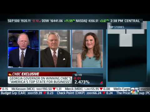 Gov. Nathan Deal asked about Georgia lagging in quality of life and education (CNBC interview)