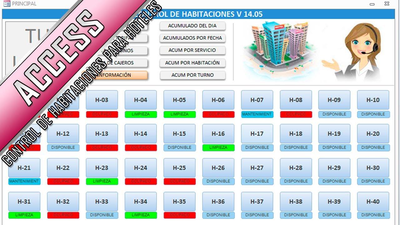 Control de habitaciones para hostales hoteles y moteles for Programa para crear habitaciones 3d