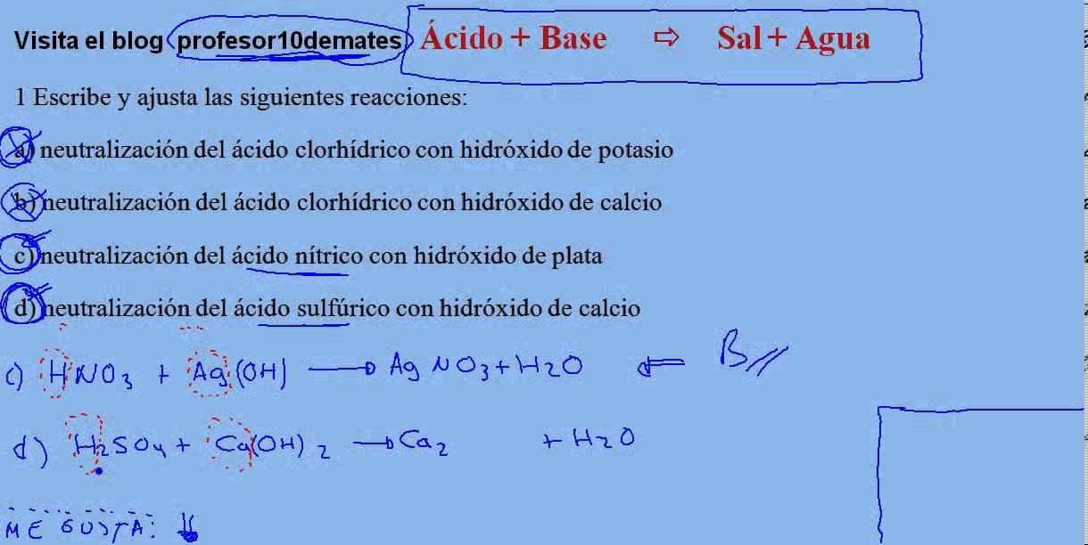 nitrato de plata mas acido nitrico