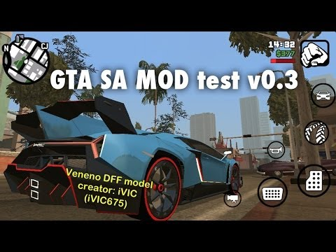 gta sa mobile mod test v0 3 reflection car setting no txd youtube. Black Bedroom Furniture Sets. Home Design Ideas