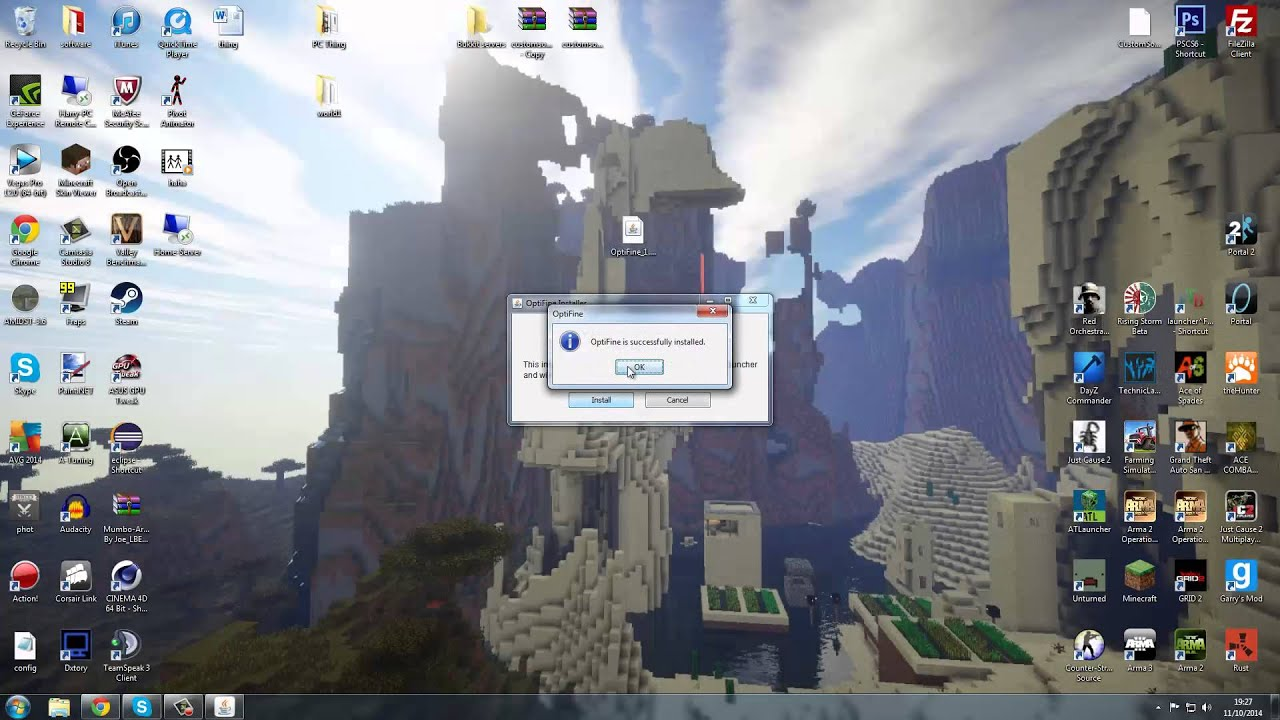 how to download optifine when it keeps not working