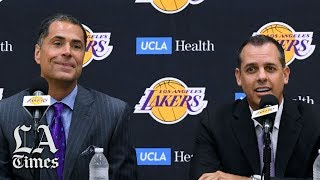 Rob Pelinka and Frank Vogel comment on Magic Johnson's comments