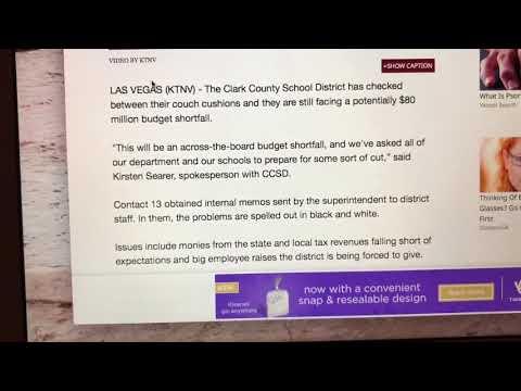 Clark county school district - is broke