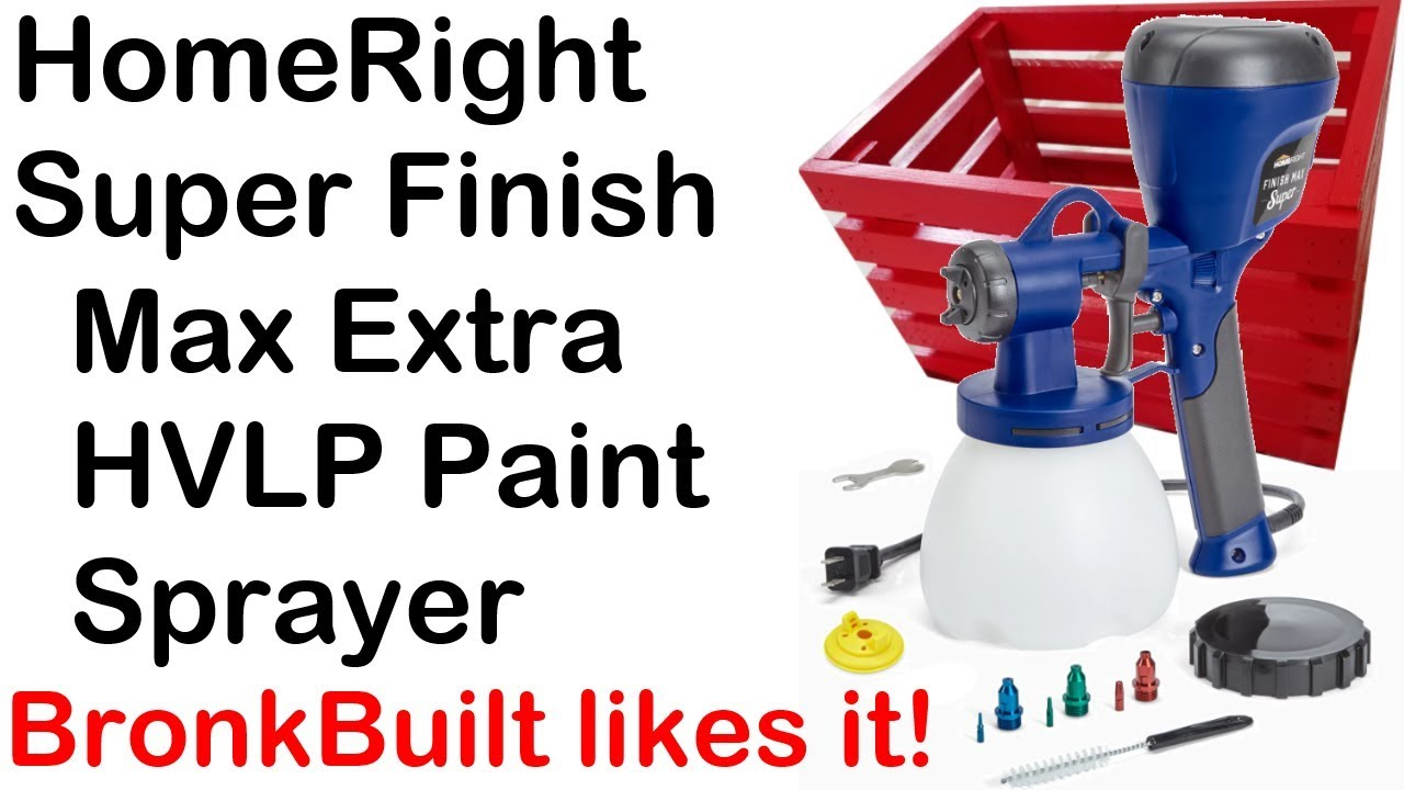 Homeright Super Finish Max Extra Hvlp Paint Sprayer Review