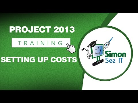 Microsoft Project 2013 Training - Setting Up Costs in MS Project 2013