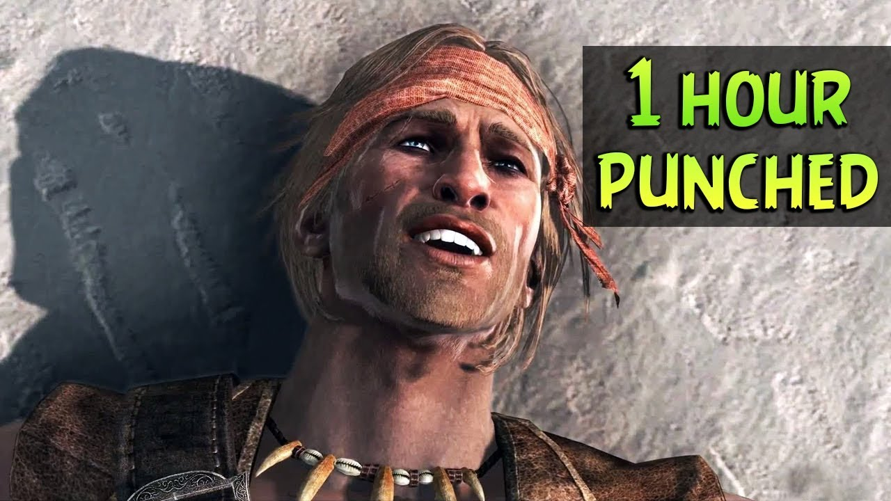 Edward Kenway Getting Punched In The Face For 1 Hour Hd Youtube