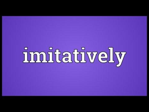 Header of imitatively