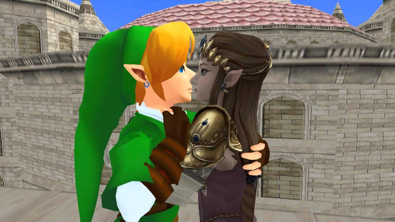 mmd link and zelda kiss zelink youtube - Link Et Zelda