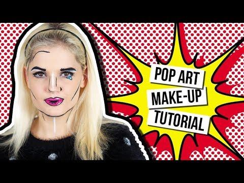 Απλό Pop Art μακιγιάζ για Halloween/Απόκριες | i Mikri Ollandeza