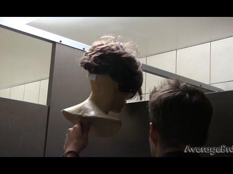 Chester The Mannequin - Peeking Into Bathroom Stalls Prank ...