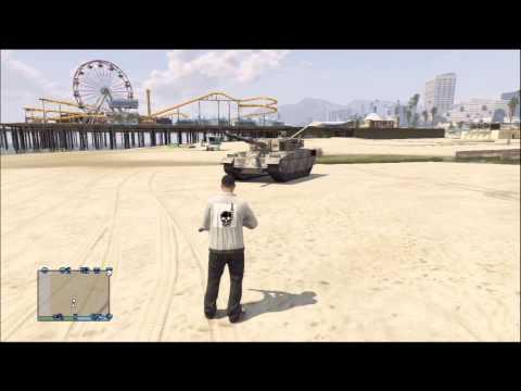 GTA 5 PS3 How 2 Destroy Tank At Weak Spot