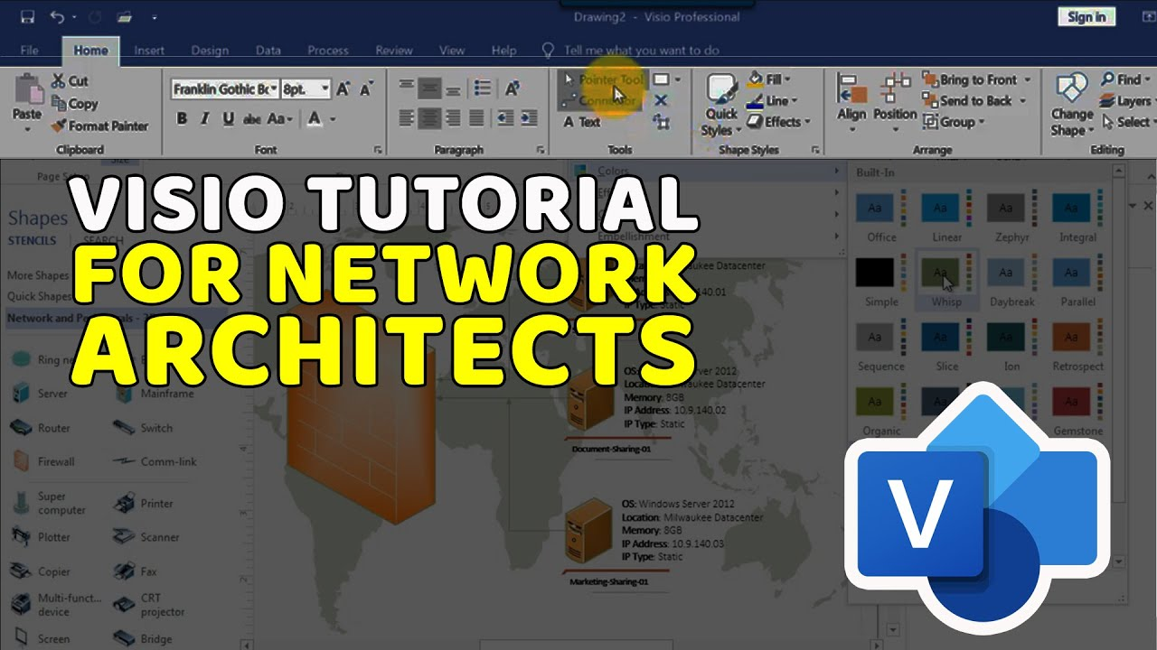 Microsoft visio 2013 tutorial for network architects step by microsoft visio 2013 tutorial for network architects step by step youtube baditri Image collections