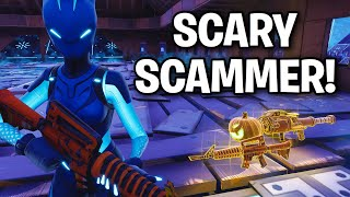 Insanely SCARY Scammer Scams Himself! 😂 (Scammer Get Scammed) Fortnite Save The World