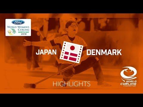 HIGHLIGHTS: Japan v Denmark – Round-robin – Ford World Women's Curling Championship 2018
