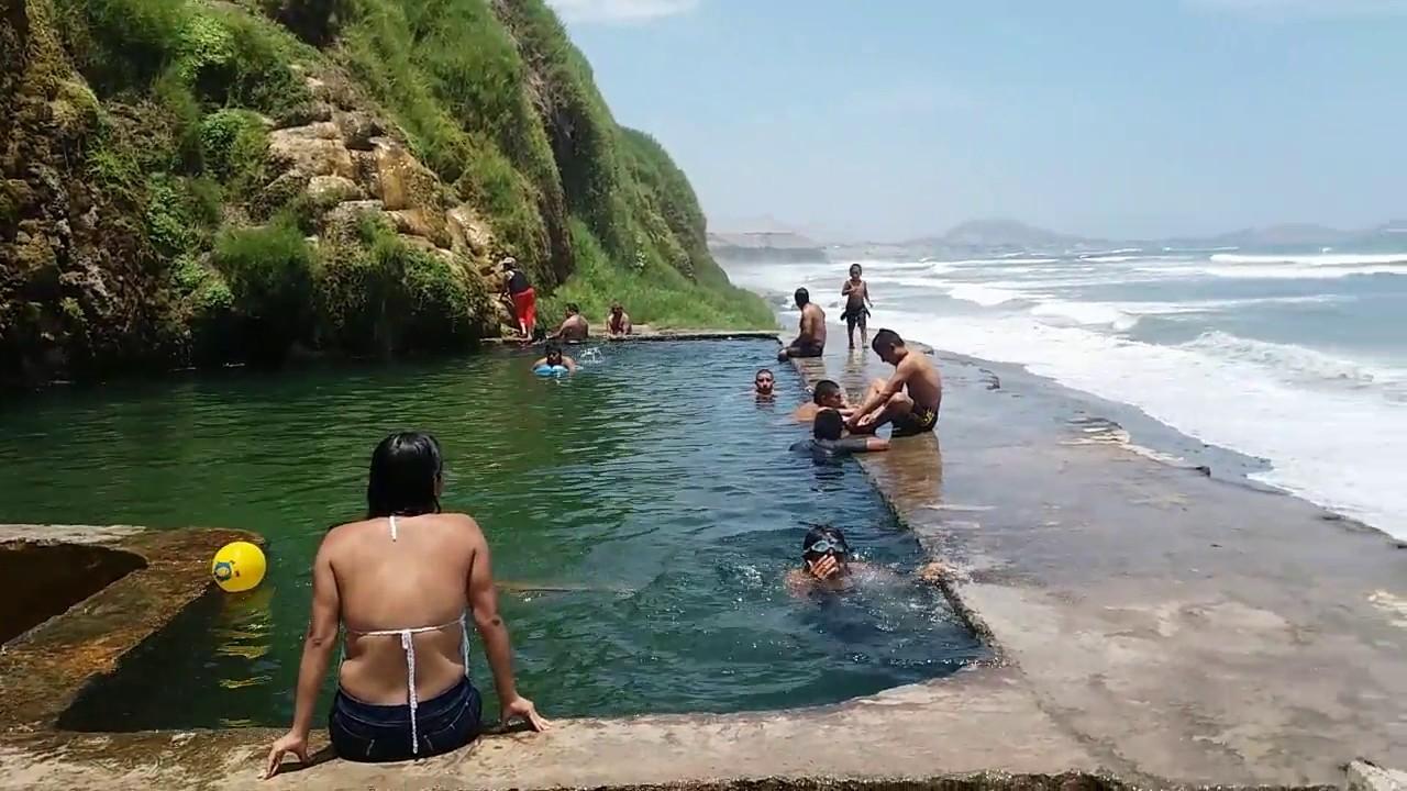La calichera chancay y piscinas de agua dulce playa - Piscina de playa ...