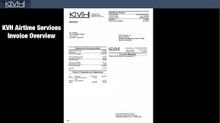 kvh airtime services invoice overview