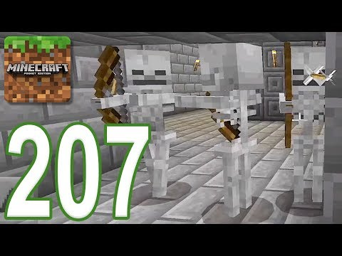 Minecraft: PE - Gameplay Walkthrough Part 207 - Escape The Skeleton Dungeon Part 2 (iOS, Android)