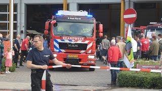P1 Brandweer Tiel 08-8531+08-9095 rukken uit tijdens open dag naar een gaslucht in Tiel