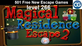 [Walkthrough] 501 Free New Escape Games level 266 - Magical residence escape 2 - Complete Game