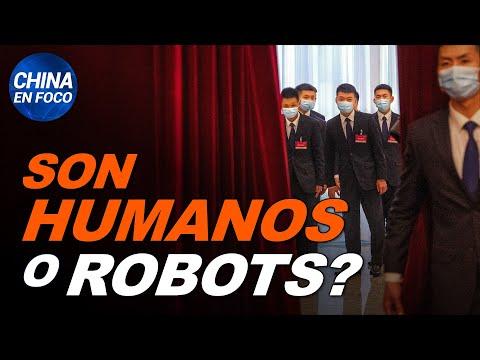 ¿Robots o humanos? Filman extraño comportamiento de sirvientes de líderes chinos. PCCh impacta a USA