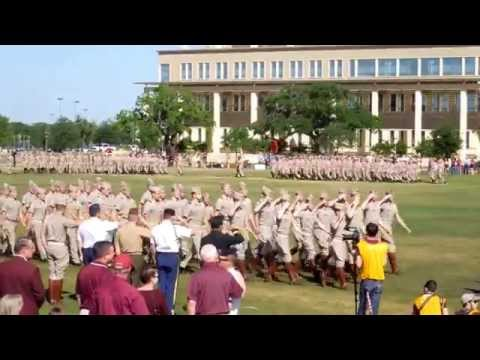Fightin' Texas Aggie Band and Texas A&M Corps of Cadets Complete Final Review 2014 - military parade
