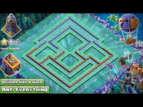 New Best BH8 Base 2018 | New COC Builder Hall 8 Base With Extra Walls | Clash Of Clans 2018