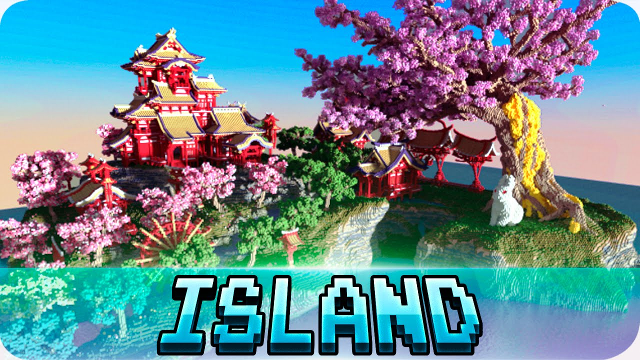 minecraft cherry tree island chinese island map youtube