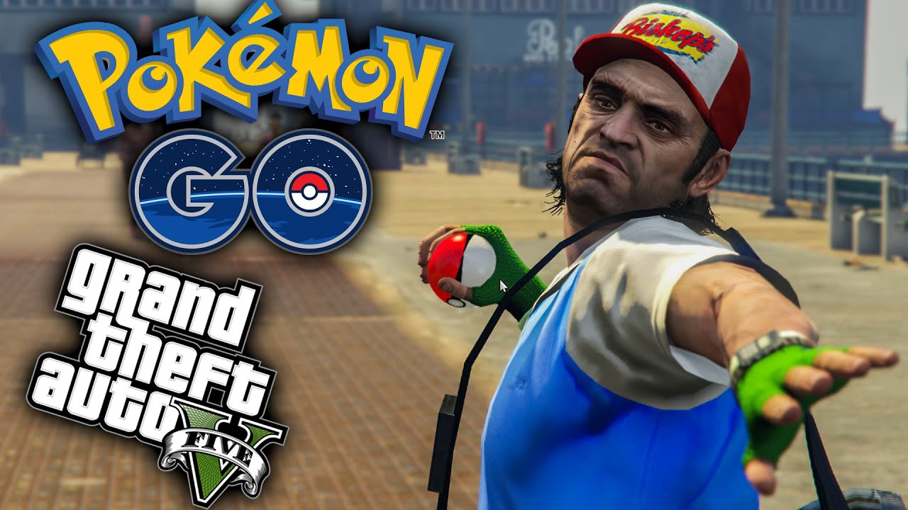 Gta  Mods Pokemon Mod Pokemon Go Style In Gta  Gta V Funny Moments