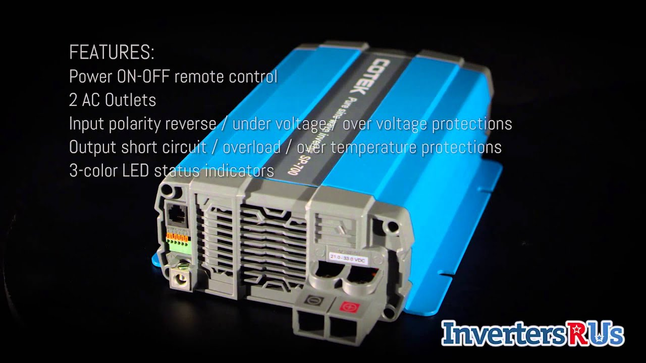 cotek sp 700 124 700 watt 24 volt pure sine wave power inverter rh youtube com