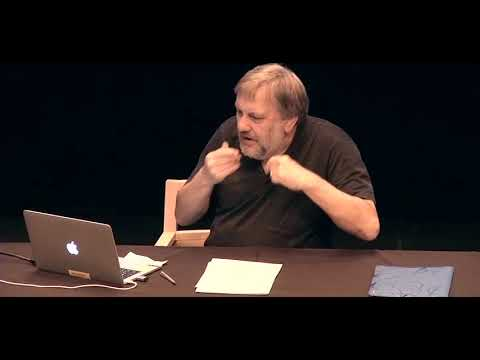 Slavoj Zizek gives the LACK II Conference Keynote Talk