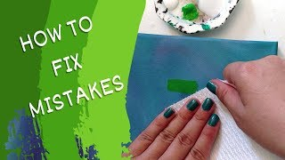 How to Fix Mistakes in Acrylic Painting