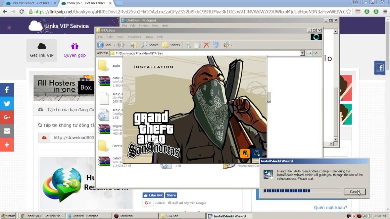 Cách download GTA San Andreas và cách chơi online