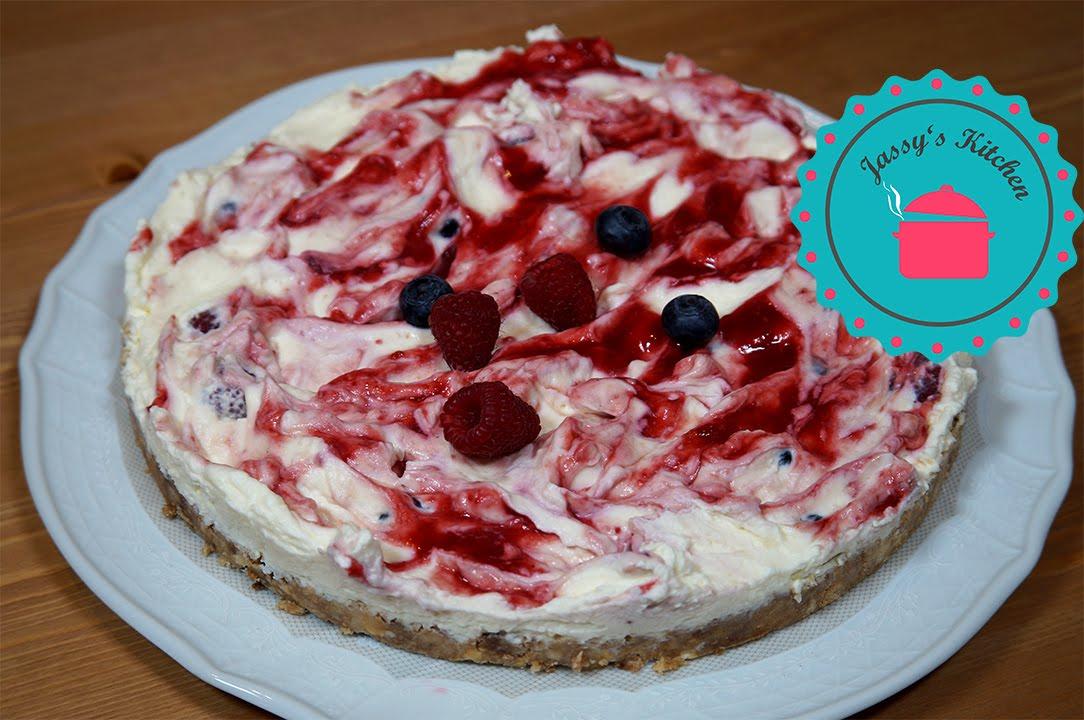 Himbeer Heidelbeer Mascarpone Torte ohne Backen  YouTube