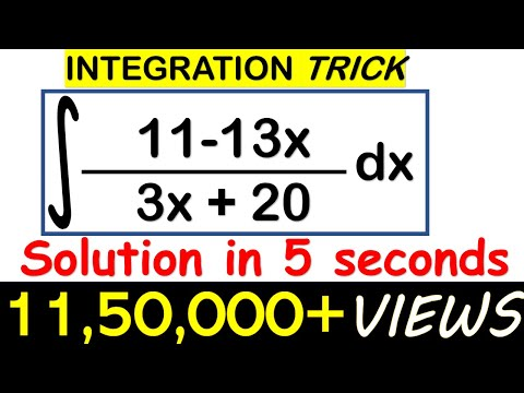 INTEGRATION SHORTCUT//SOLVE LINEAR/LINEAR FORM IN 5 SECONDS/