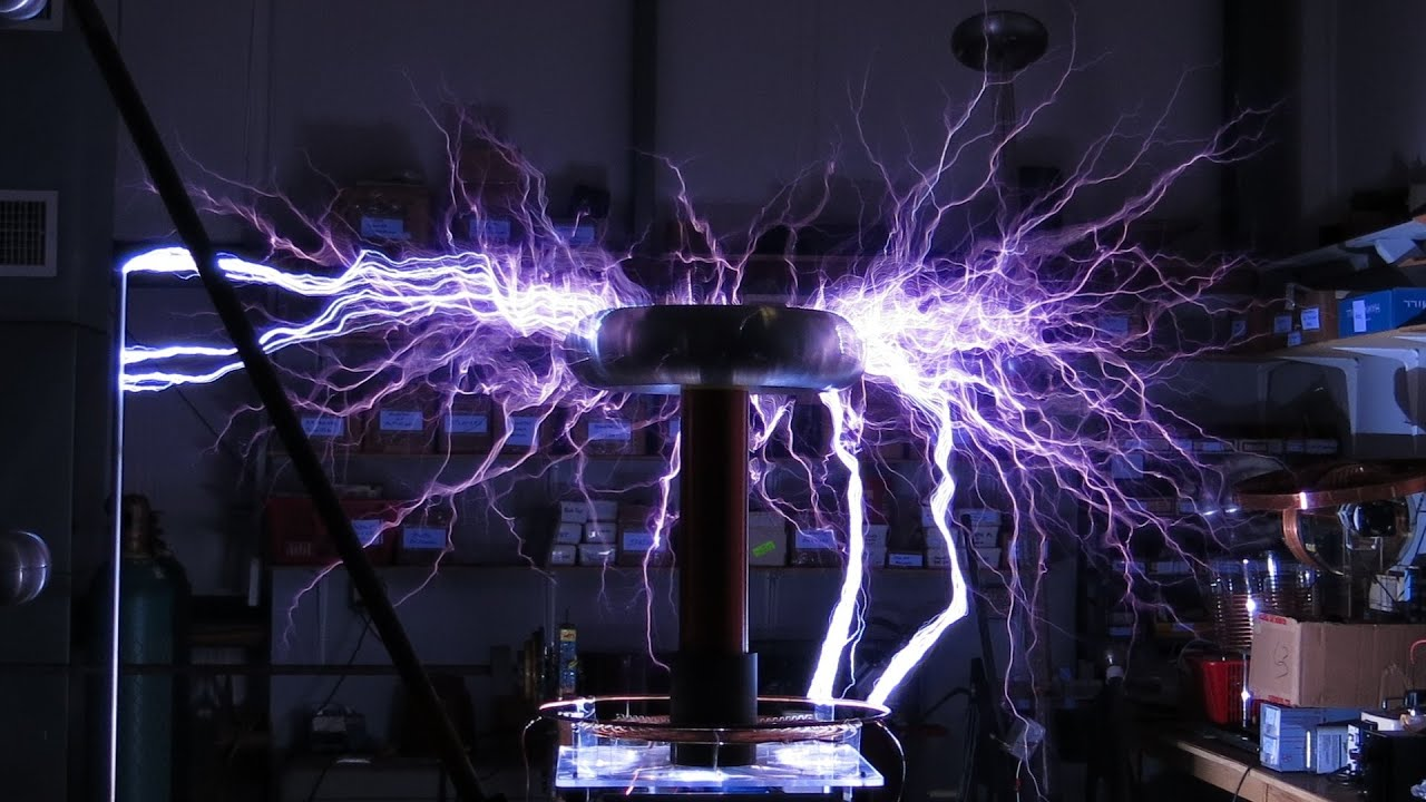 High Power Tesla Coil 900kV - YouTube