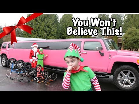 Surprising Kids With New Bikes In A PINK LIMO!!