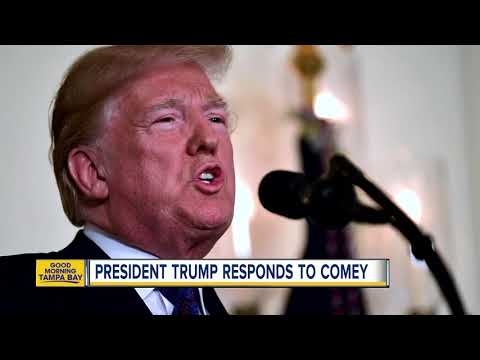 President Trump responds to James Comey\'s interview