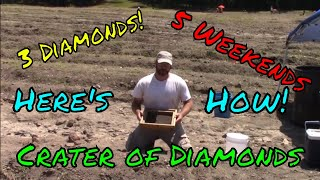Success Finding Diamonds at the Crater of Diamonds State Park