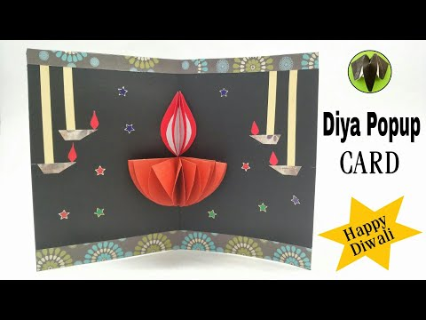 Diya | Lamp Popup Card for Diwali - DIY | Tutorial by Paper Folds - 805