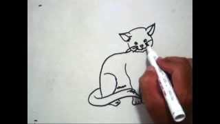 How to Draw A Cat (Cara Menggambar Kucing)