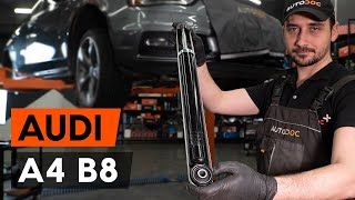 front and rear Brake shoe kits installation AUDI A4: video manual