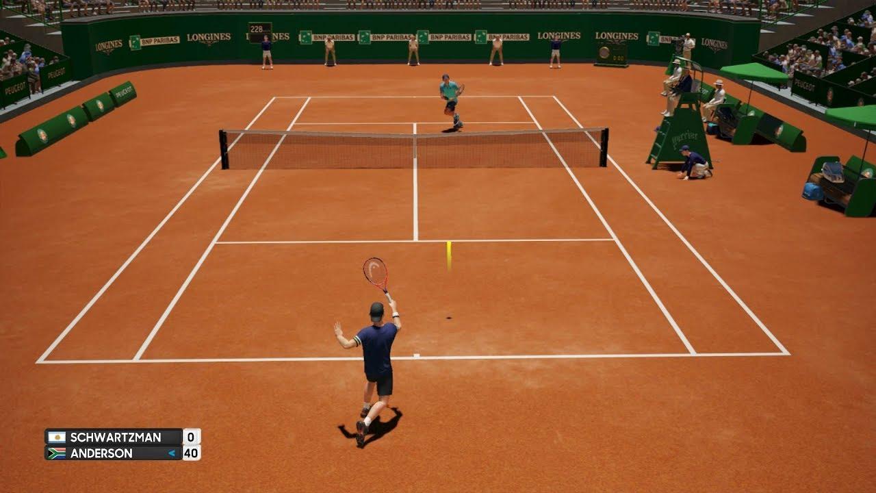 Diego Schwartzman Vs Kevin Anderson Ao International Tennis Ps4 Gameplay Youtube
