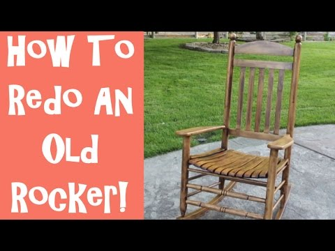 how to refinish an old wooden rocking chair with the idaho. Black Bedroom Furniture Sets. Home Design Ideas
