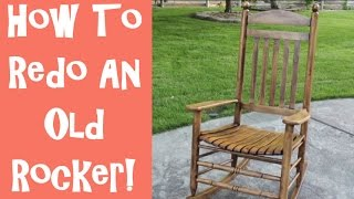 How To Refinish An Old Wooden Rocking Chair With The Idaho Painter