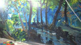 "Mangrove forest "" SUNDARBAN"" painting going on"