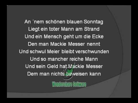 Drei Groschenoper - Moritat -  Mack the Knife -  MACKIE MESS