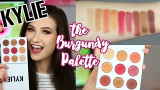 Repeat youtube video KYLIE Jenner Kyshadow The BURGUNDY Palette | Brush Swatches and Review