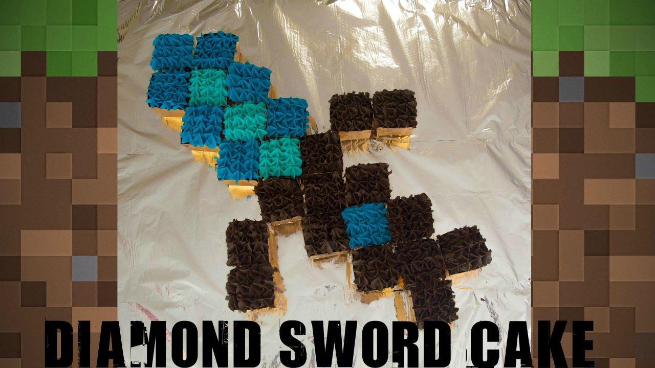 Diamond Sword Cake Minecraft Youtube