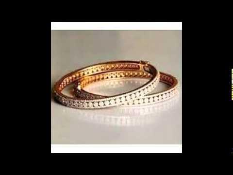 Diamond Bangle Designs - YouTube