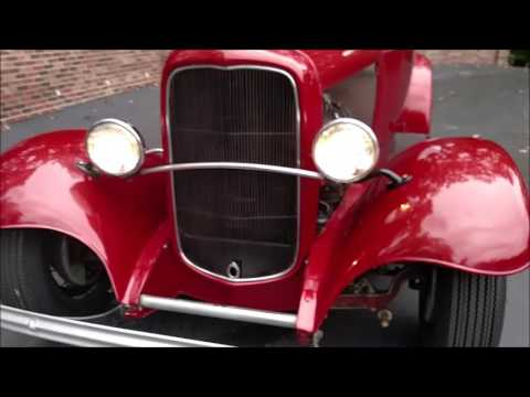 1932 Ford Roadster in red for sale Old Town Automobile in Maryland